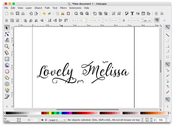 font cut off inkscape
