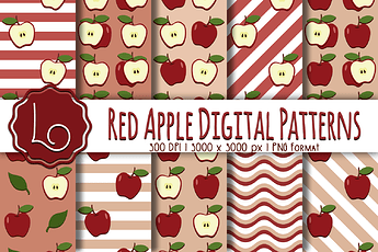 Red Apple Patterns 2