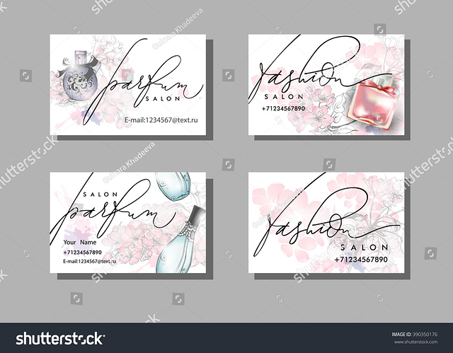 stock-vector-makeup-artist-business-card-vector-template-with-beautiful-perfume-bottle-fashion-and-beauty-390350176