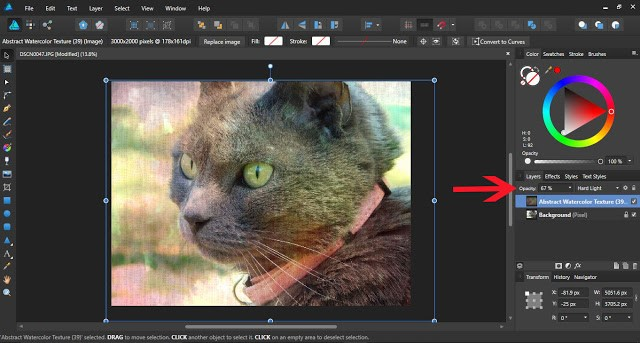 textures in affinity designer 9