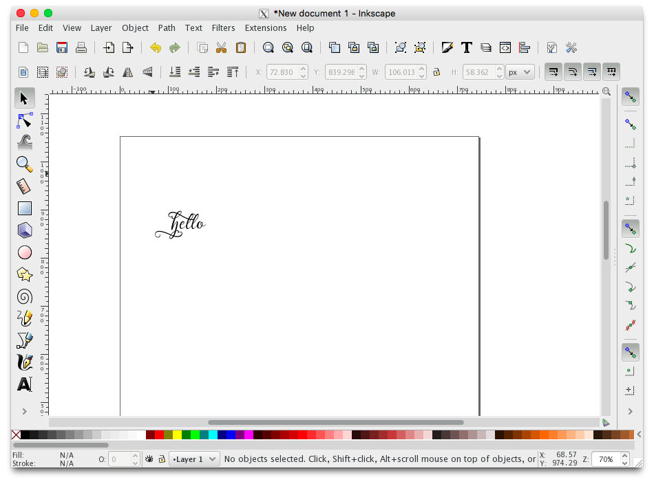 pasting glyph into inkscape